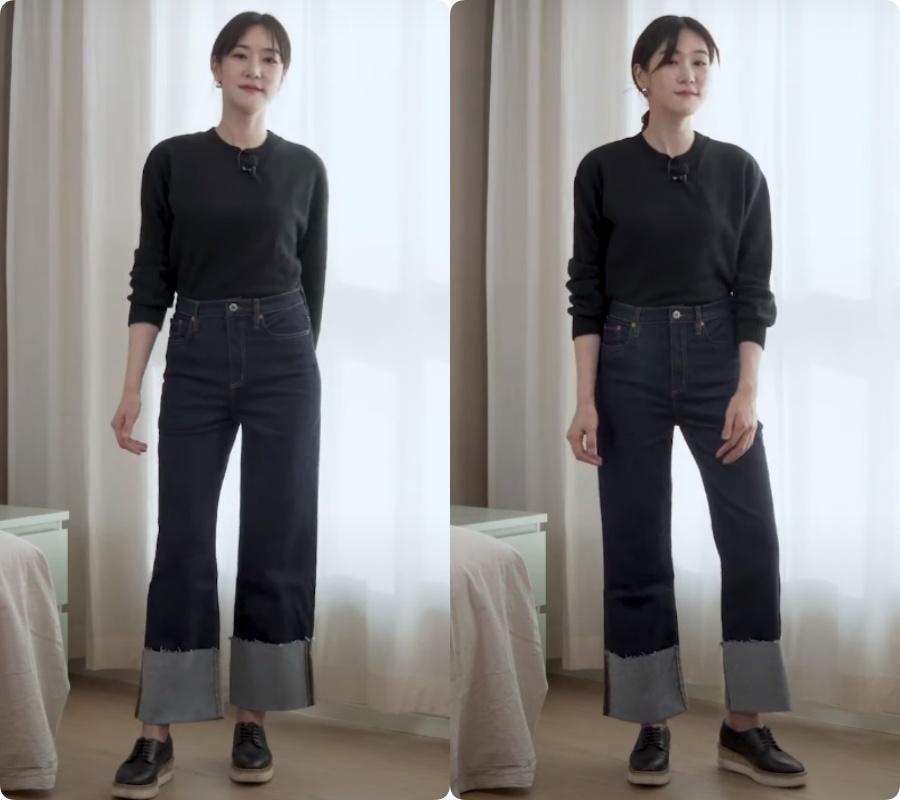 Blogger người Hàn chỉ ra dáng quần jeans hack chân dài vi diệu nhất của Zara - Ảnh 12.