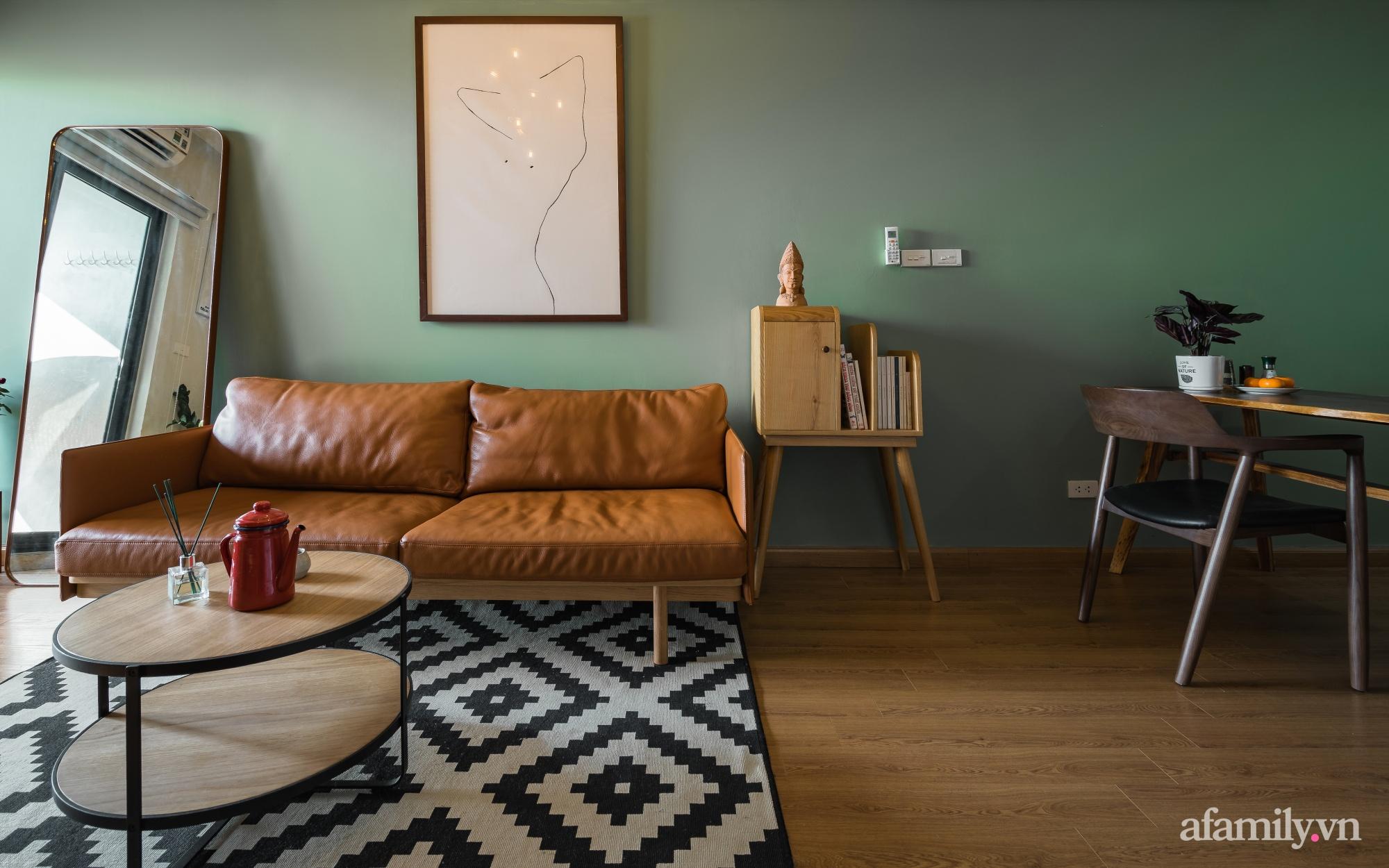 Căn hộ 60m² hoàn thiện nội thất tinh tế dành cho vợ chồng trẻ có chi phí 250 triệu đồng ở Hà Nội - Ảnh 9.