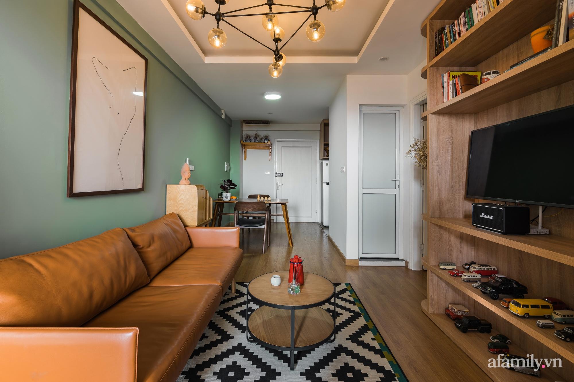 Căn hộ 60m² hoàn thiện nội thất tinh tế dành cho vợ chồng trẻ có chi phí 250 triệu đồng ở Hà Nội - Ảnh 8.