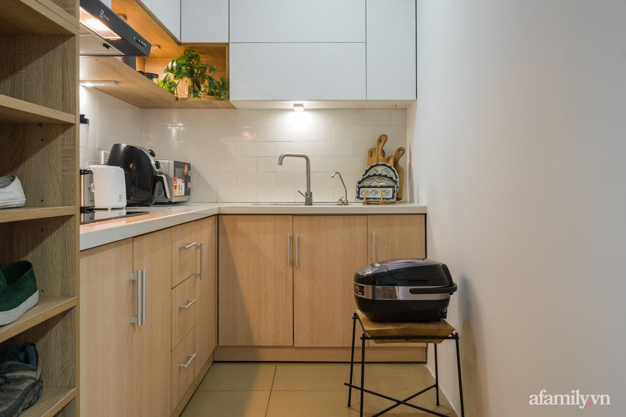 Căn hộ 60m² hoàn thiện nội thất tinh tế dành cho vợ chồng trẻ có chi phí 250 triệu đồng ở Hà Nội - Ảnh 17.