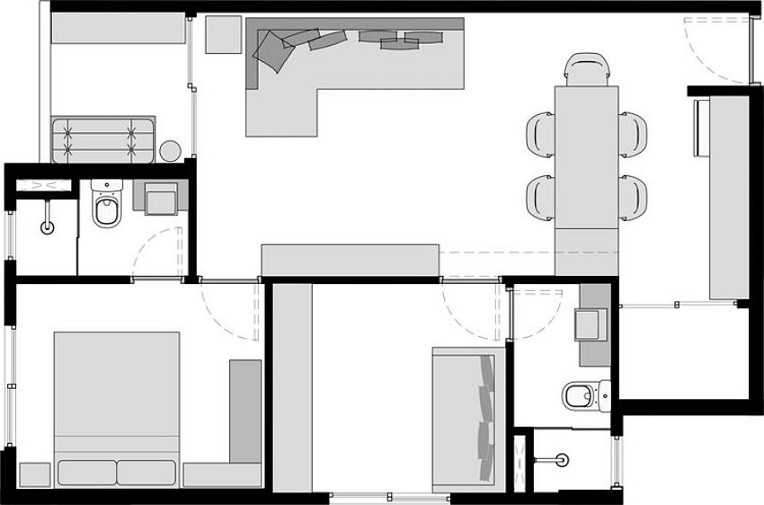Cuộc sống ngọt ngào bên trong căn hộ 17m² với vẻ đẹp mang phong cách Bắc Âu - Ảnh 2.
