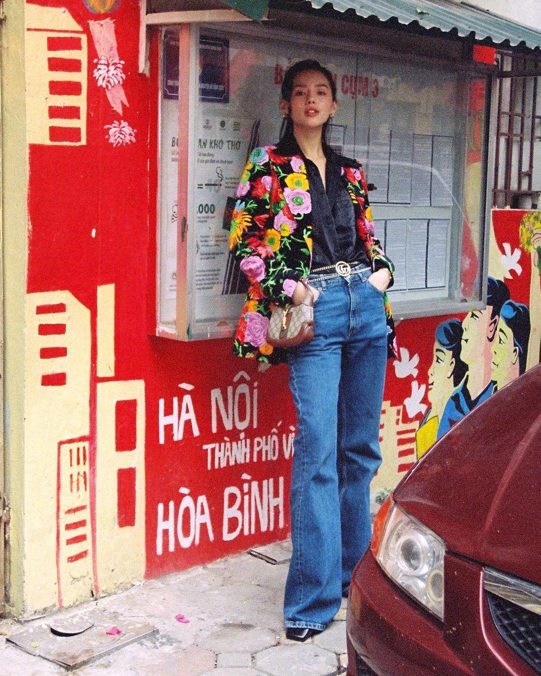 Học sao Việt - Hàn mix đồ hack dáng với quần cạp cao, muốn biến tấu theo phong cách nào cũng cân được tất! - Ảnh 3.