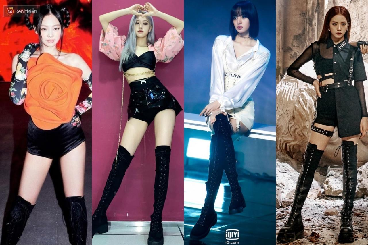 Khi 4 nàng BLACKPINK đụng 1 kiểu boots: Trông ai cũng chiến, riêng Jisoo có chiêu hack dáng độc - Ảnh 1.