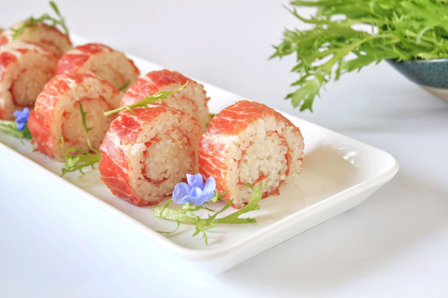 Xôi cuộn thịt món ngon đẹp mắt cho bữa trưa văn phòng - Ảnh 7.