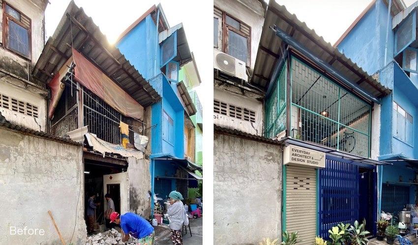 Cải tạo nhà mái tôn cũ kỹ giữa thủ đô thành không gian hiện đại đáng sống - Ảnh 1.