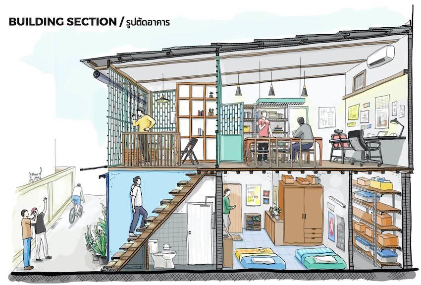 Cải tạo nhà mái tôn cũ kỹ giữa thủ đô thành không gian hiện đại đáng sống - Ảnh 3.