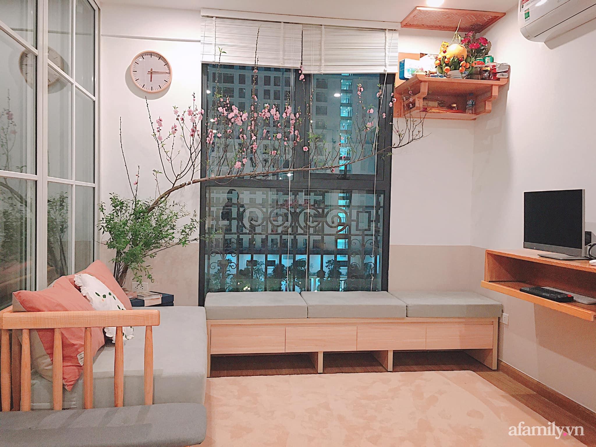 Căn hộ 78m² đẹp tinh tế và tiện dụng với phong cách tối giản của cặp vợ chồng trẻ ở Hà Nội - Ảnh 3.