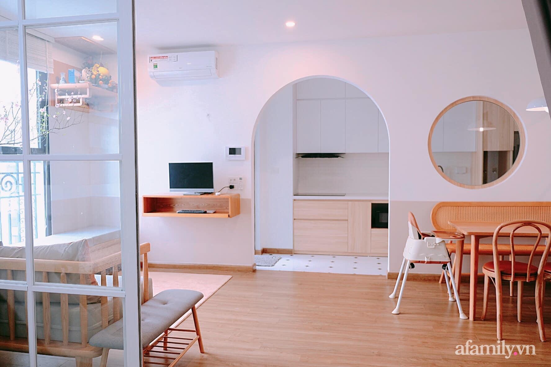 Căn hộ 78m² đẹp tinh tế và tiện dụng với phong cách tối giản của cặp vợ chồng trẻ ở Hà Nội - Ảnh 5.