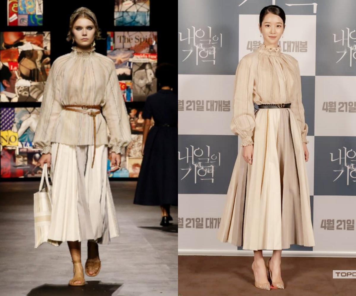 """Seo Ye Ji tuy lên đồ hơi """"dừ"""" nhưng vẫn đẹp hơn mẫu hãng, quay lại style thanh lịch sau thời gian """"phá cách"""" - Ảnh 3."""