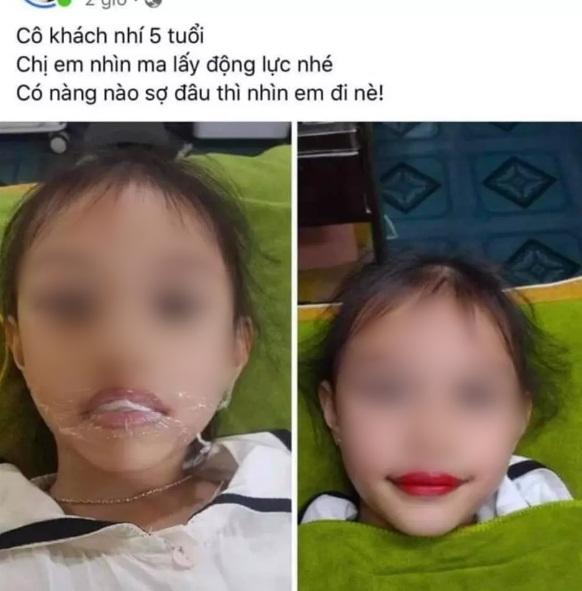 Xôn xao hình ảnh bé gái 5 tuổi đã được phụ huynh cho đi xăm môi, cư dân mạng lập tức nổ ra bình luận trái chiều - Ảnh 1.
