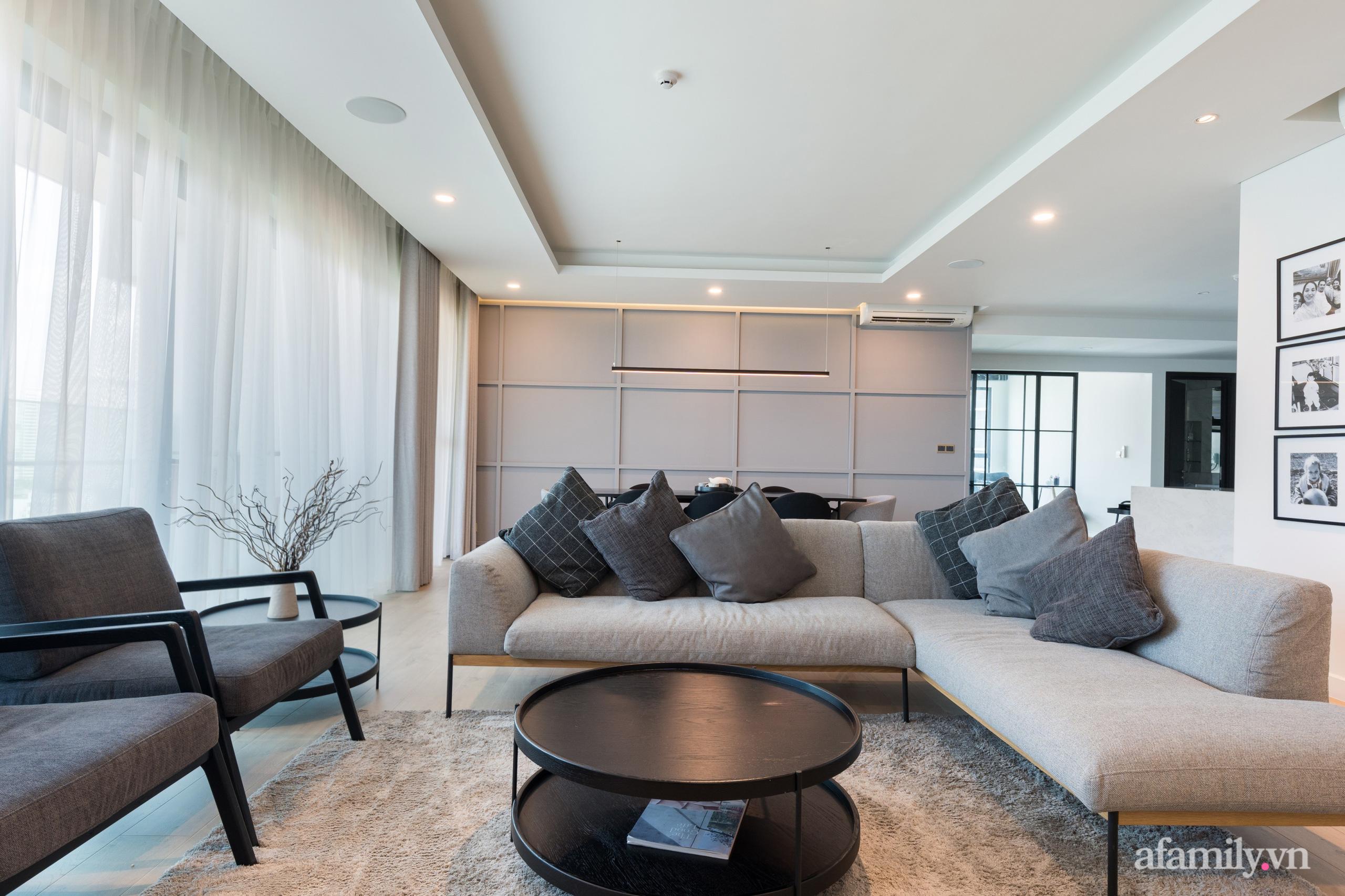 Căn hộ 216m² đẹp sang trọng và hiện đại thu trọn vẻ đẹp quận 2 Sài Gòn trong tầm mắt nhờ phong cách Minimalism - Ảnh 6.