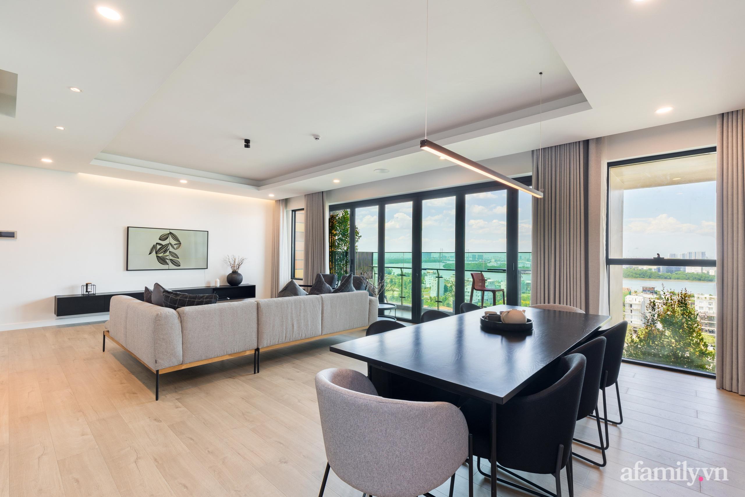 Căn hộ 216m² đẹp sang trọng và hiện đại thu trọn vẻ đẹp quận 2 Sài Gòn trong tầm mắt nhờ phong cách Minimalism - Ảnh 8.