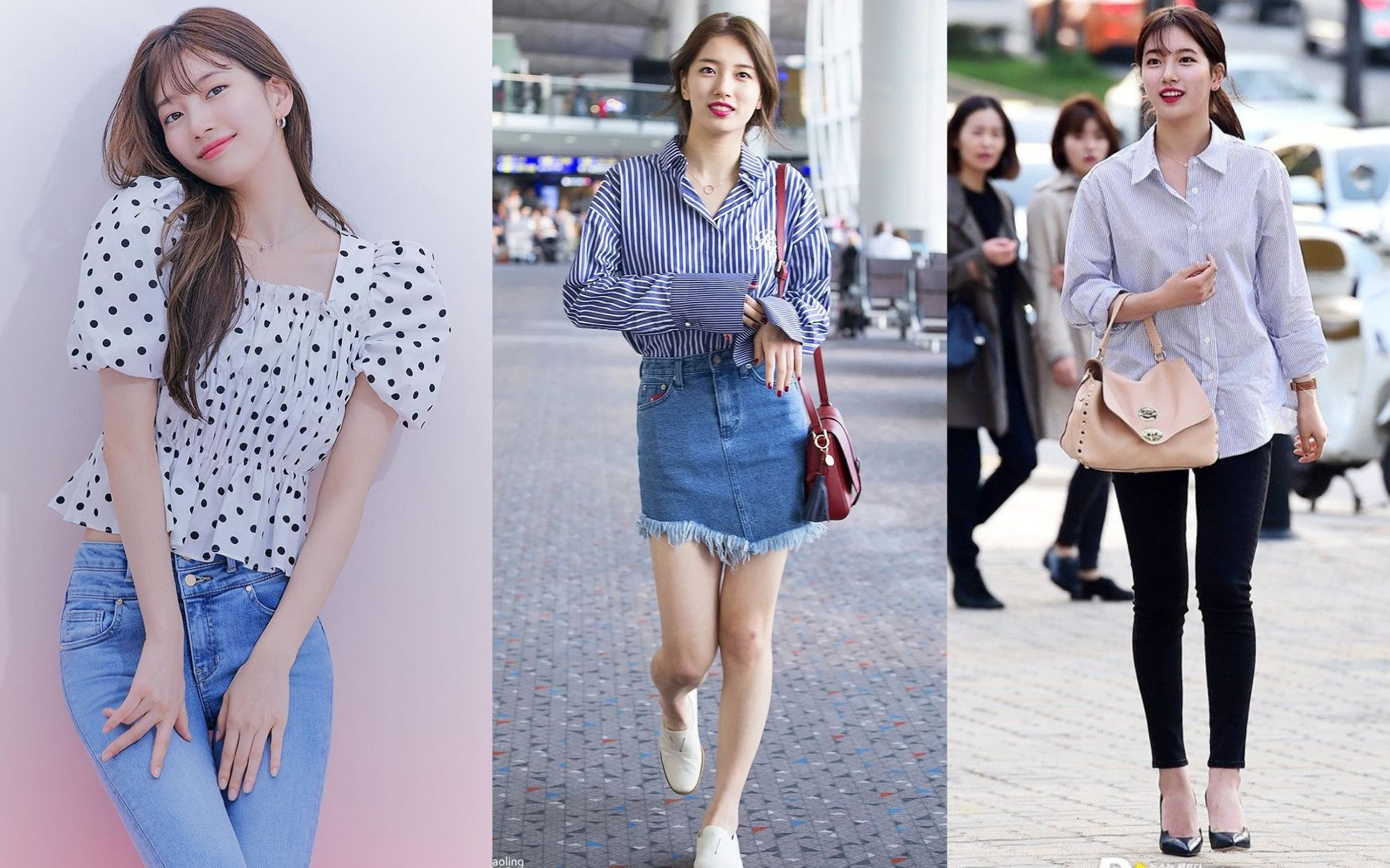 """Suzy toàn diện áo sơ mi/blouse theo cách siêu đơn giản nhưng xinh hết cỡ, chị em học theo là """"lên trình"""" mặc đẹp"""