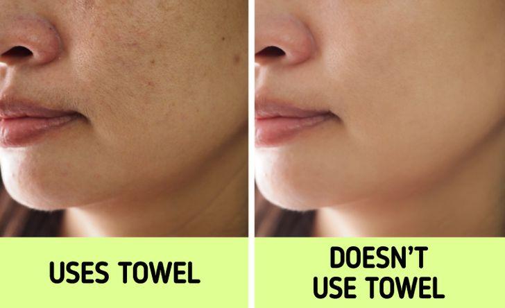 """Nếu biết lý do khiến làn da ngày càng nhăn nheo mụn nhọt, bạn sẽ """"cạch"""" đến già việc dùng khăn lau khô mặt - Ảnh 2."""