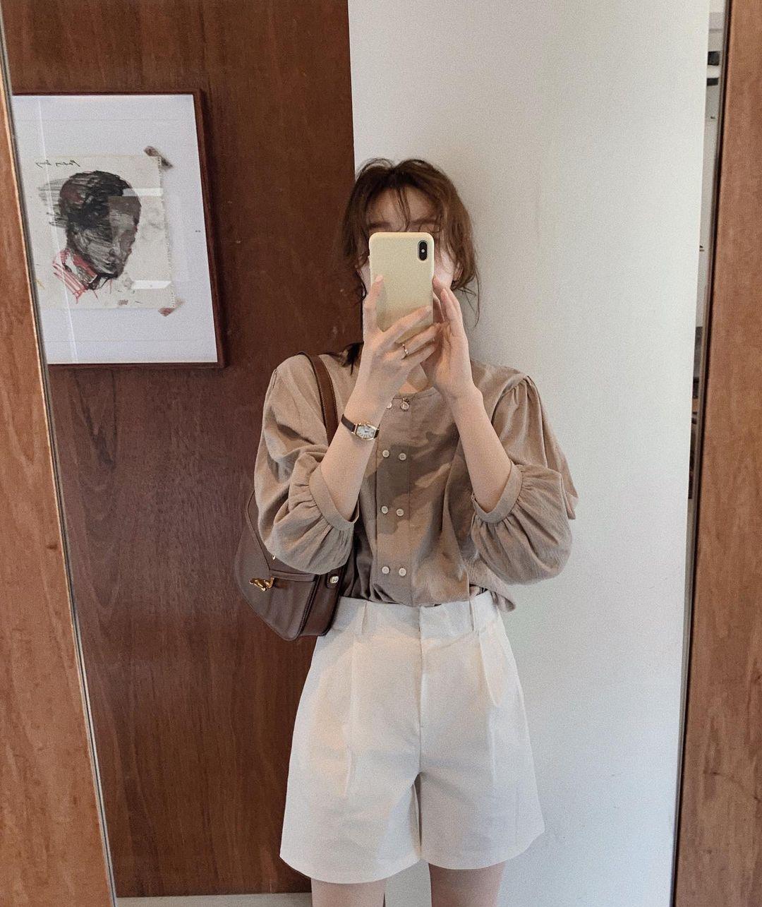 Gái Hàn có 12 cách lên đồ với áo blouse đẹp mê, xem xong là muốn copy đến sở làm liền - Ảnh 7.
