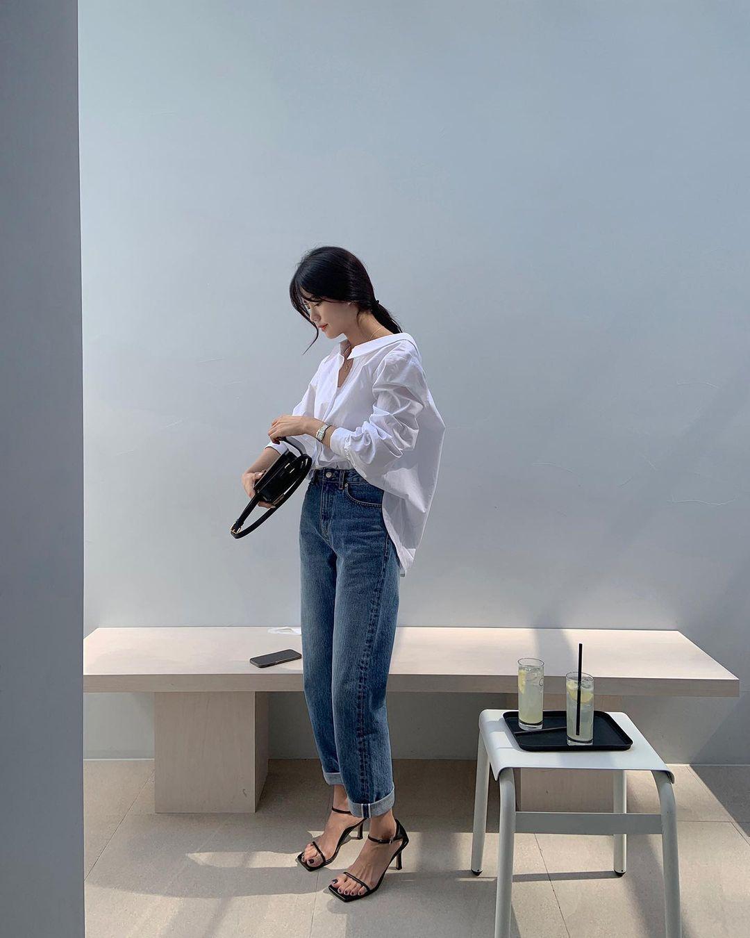 Gái Hàn có 12 cách lên đồ với áo blouse đẹp mê, xem xong là muốn copy đến sở làm liền - Ảnh 3.