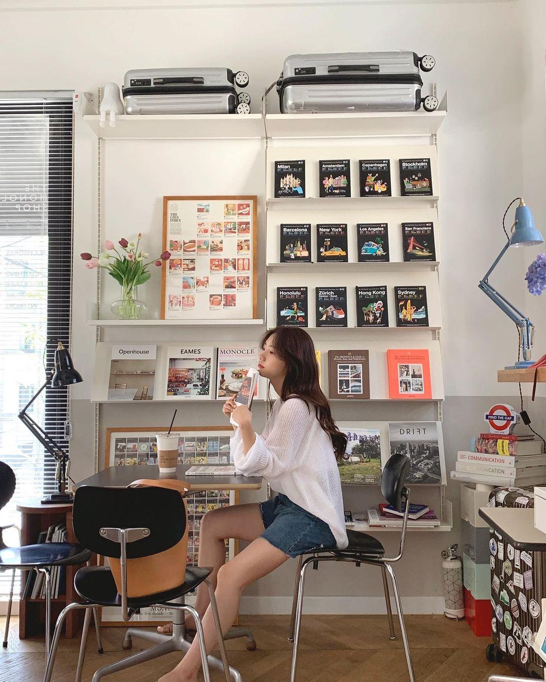 Mùa hè nóng nực, chị em nào muốn mặc quần short mà xinh như gái Hàn thì bơi vào đây! - Ảnh 6.