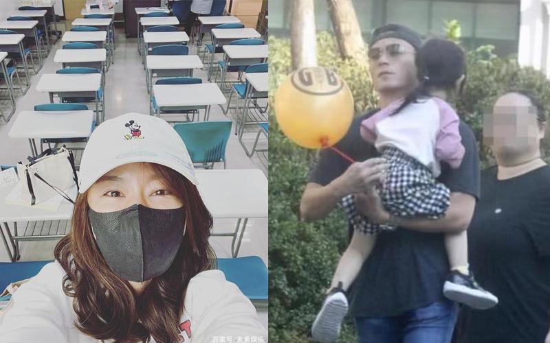 Lâm Tâm Như hí hửng thay Hoắc Kiến Hoa đưa con gái tới trường học