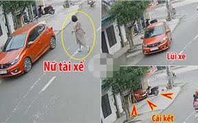 Clip: Đạp nhầm chân ga, nữ tài xế tông sập cổng nhà dân