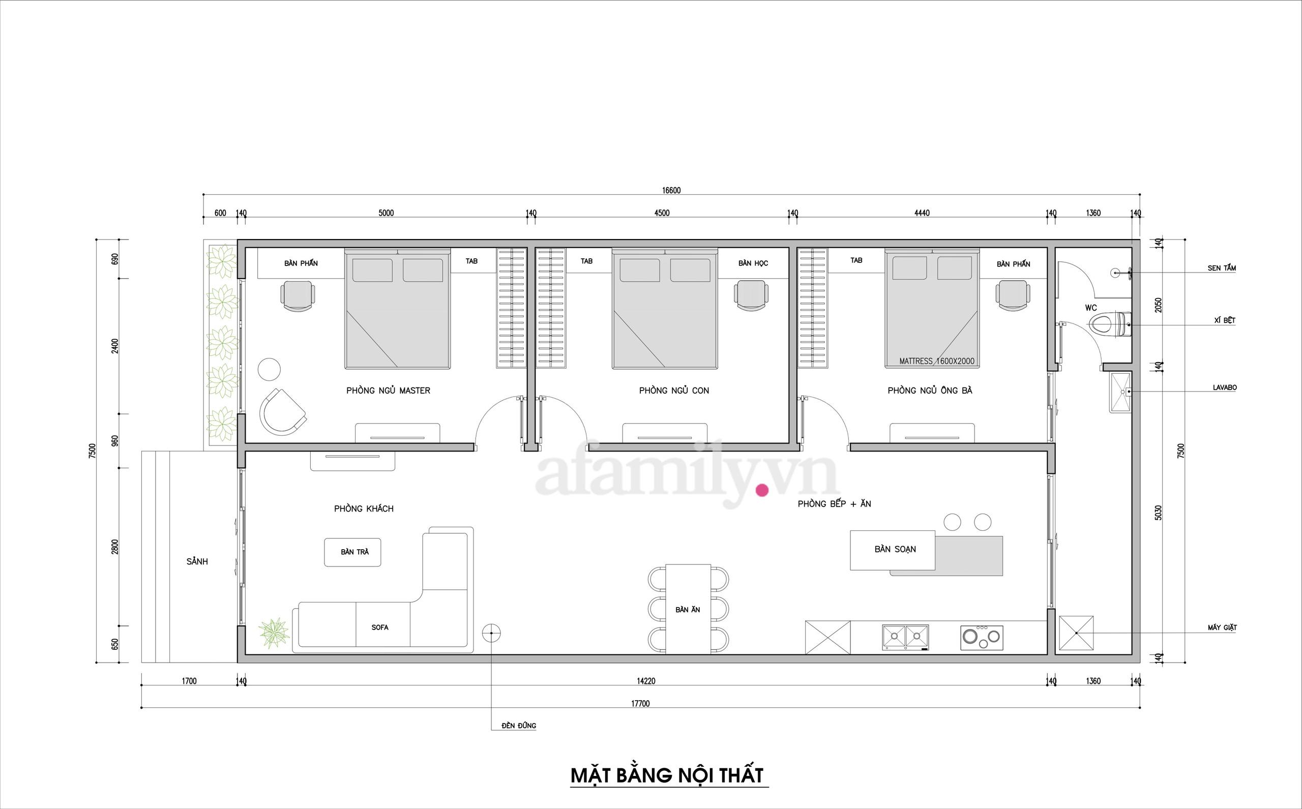 Kiến trúc sư tư vấn thiết kế ngôi nhà cấp 4 diện tích 120m² chi phí 150 triệu đồng - Ảnh 1.