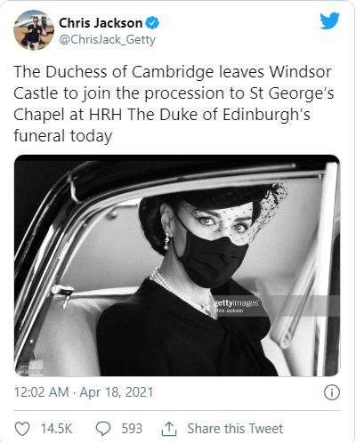 Điều ít biết sau bức ảnh gây bão MXH của Công nương Kate tại tang lễ Hoàng tế Philip 002