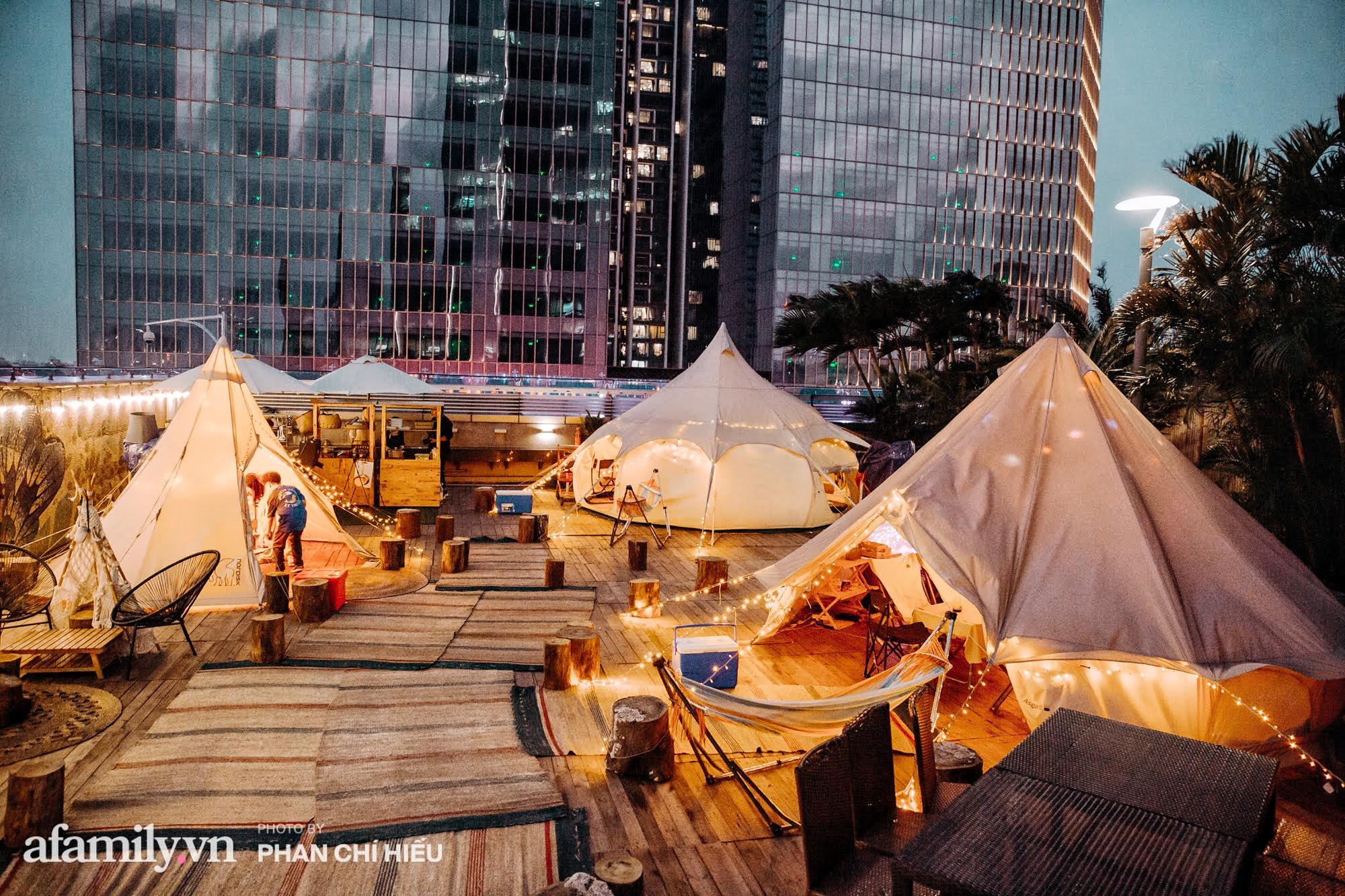 """Siêu Hot: Glamping - Cắm trại xa xỉ trên nóc tòa nhà cao nhất Hà Nội, một khung cảnh """"cam kết"""" đẹp hơn cả trên phim với 1 loạt trải nghiệm vô cùng thú vị dành cho cả gia đình - Ảnh 14."""