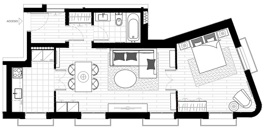 Căn hộ 49m² đẹp sang trọng, ngọt ngào với màu sắc và nội thất thanh lịch - Ảnh 4.