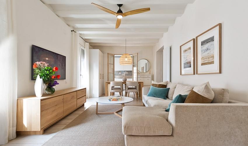Căn hộ 49m² đẹp sang trọng, ngọt ngào với màu sắc và nội thất thanh lịch - Ảnh 2.