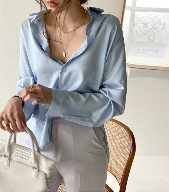 Hot hơn cả sơ mi trắng, chiếc áo màu xanh baby này đang phủ sóng  - Ảnh 19.