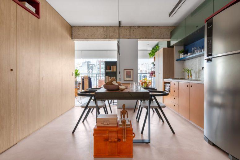 Căn hộ 45m² tạo bất ngờ với thiết kế không tường ngăn cách - Ảnh 3.