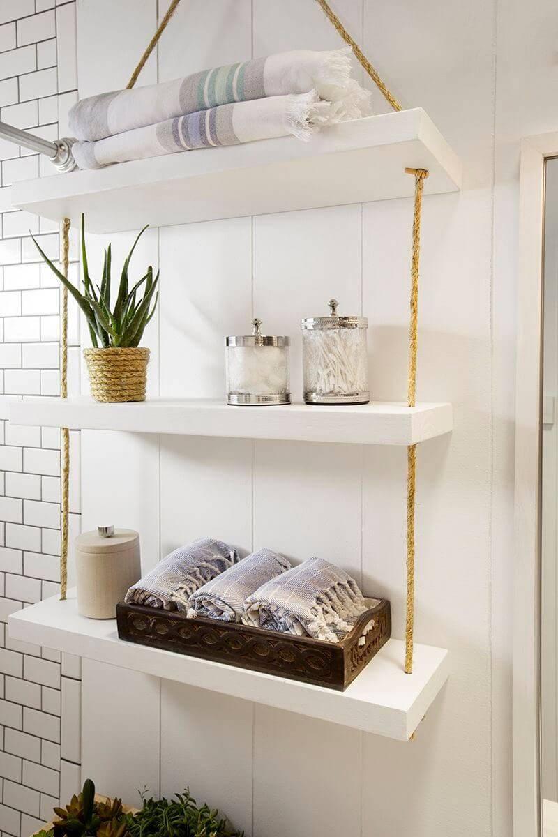 Ý tưởng lưu trữ khăn tắm thông minh giúp không gian vừa gọn gàng vừa sang trọng - Ảnh 1.