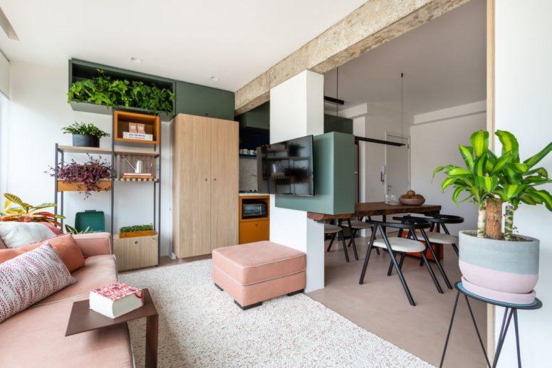 Căn hộ 45m² tạo bất ngờ với thiết kế không tường ngăn cách - Ảnh 1.