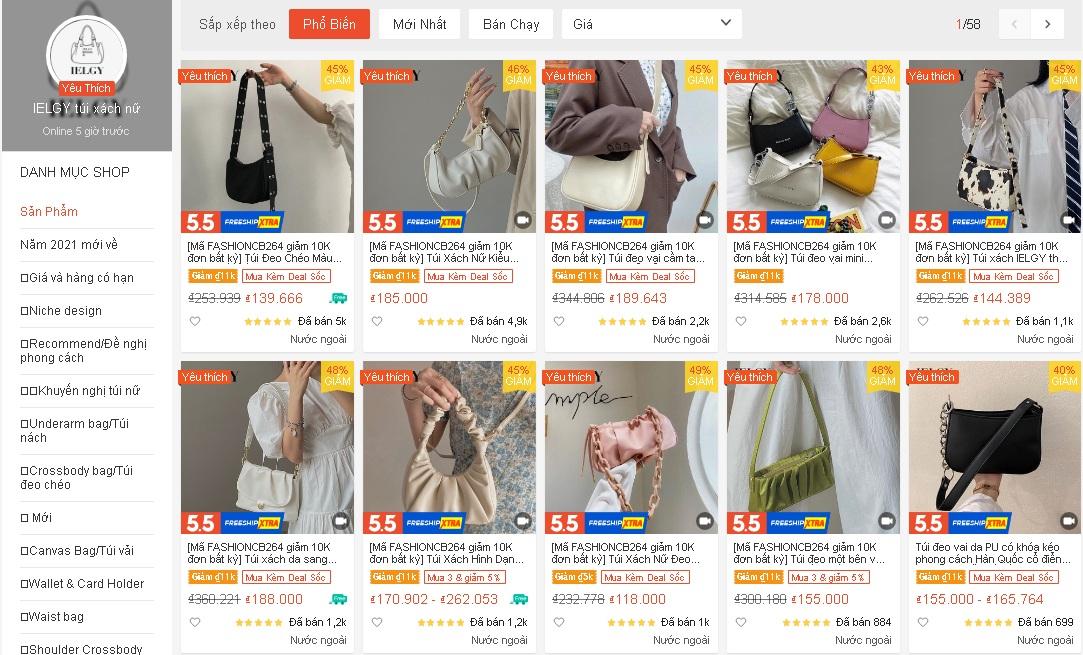 4 shop bán túi cắp nách chỉ từ 30k trên Shopee: Giá rẻ nhưng chất lượng cao, nhận được cả nghìn review tốt - Ảnh 1.