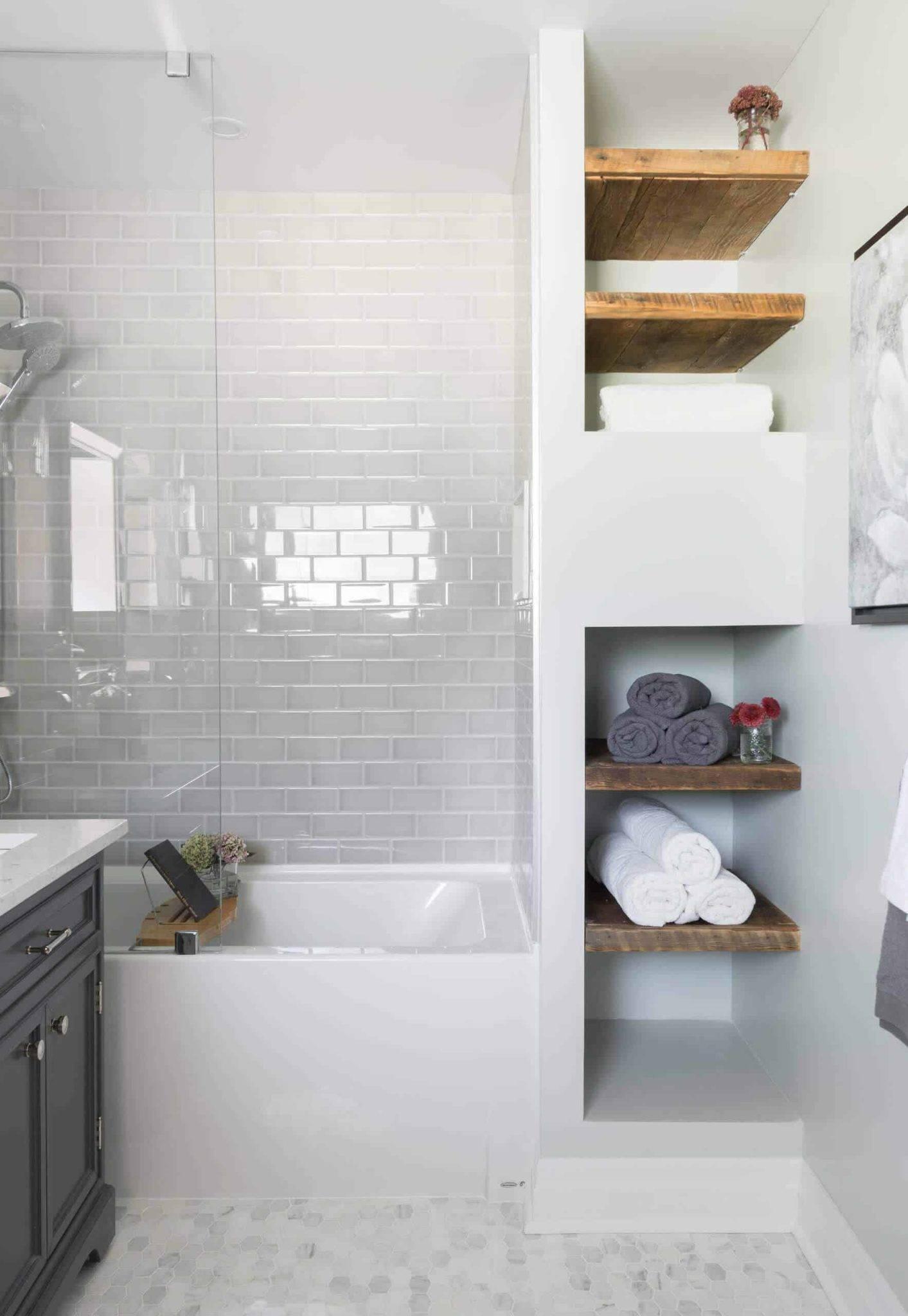 Ý tưởng lưu trữ khăn tắm thông minh giúp không gian vừa gọn gàng vừa sang trọng - Ảnh 3.