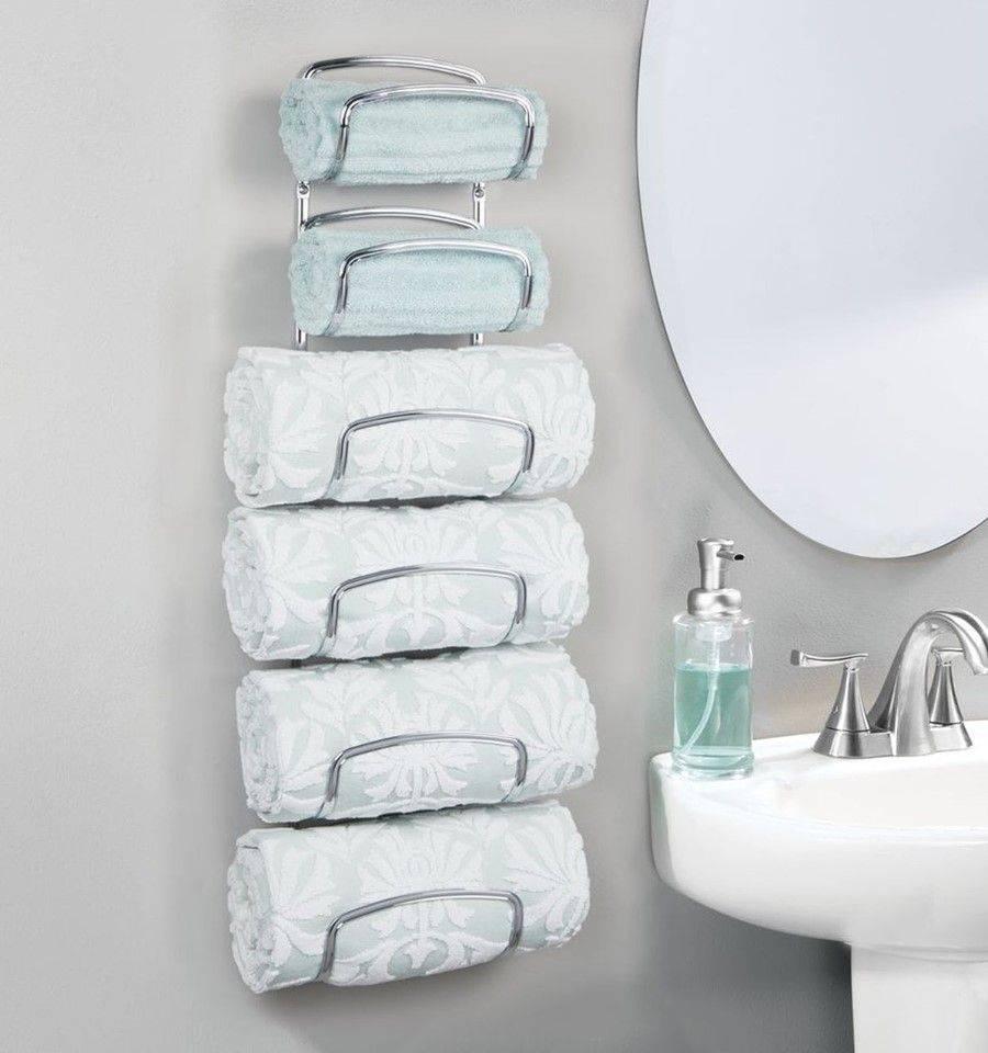 Ý tưởng lưu trữ khăn tắm thông minh giúp không gian vừa gọn gàng vừa sang trọng - Ảnh 7.