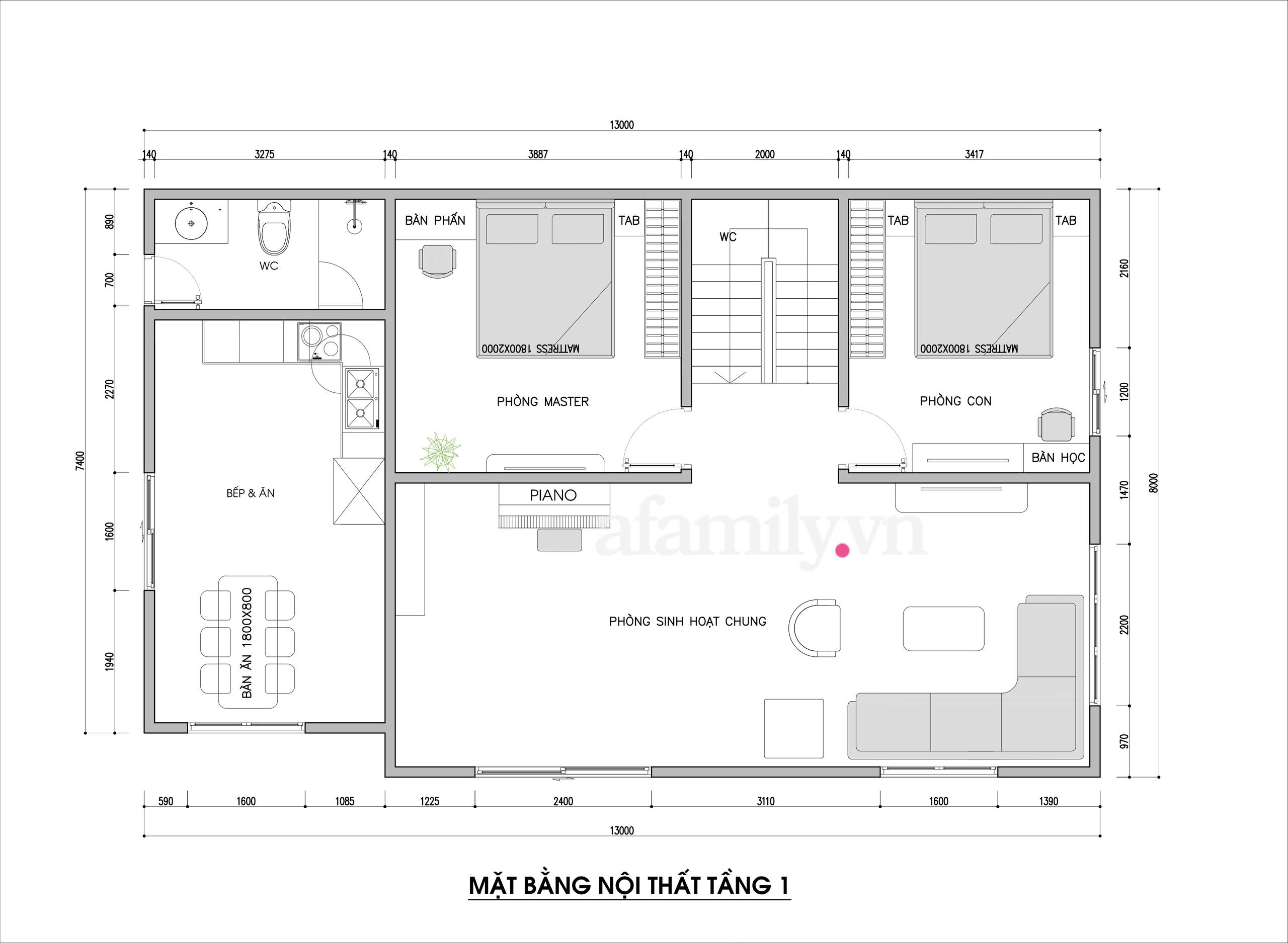 Kiến trúc sư tư vấn thiết kế nhà cấp 4 ở quê diện tích 500m² với chi phí 210 triệu đồng - Ảnh 3.