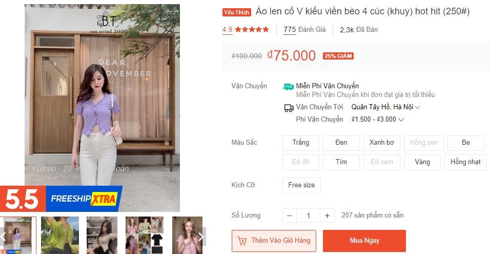 9 mẫu áo kiểu nữ bán chạy nhất Shopee, từ 35k mà diện lên xinh chuẩn hot girl - Ảnh 14.