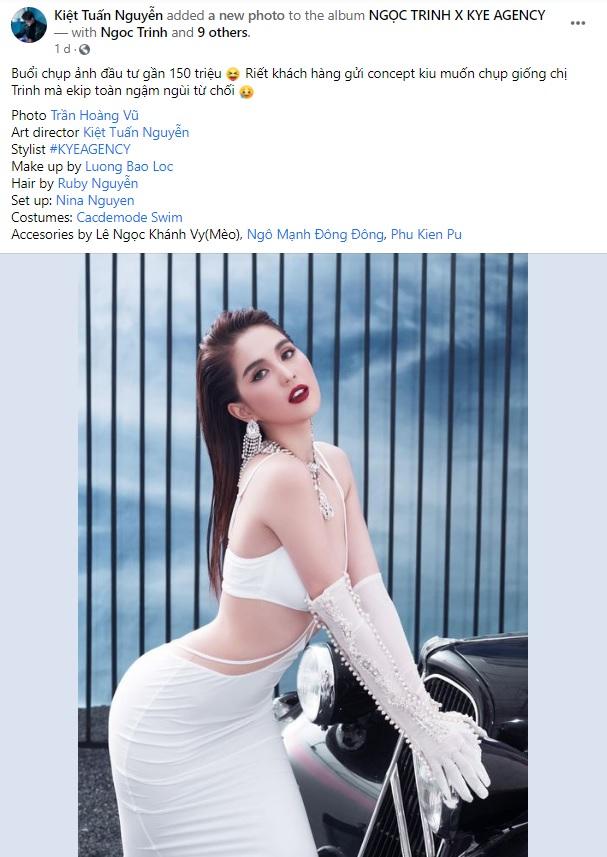 Choáng khi stylist Ngọc Trinh hé lộ chi phí 1 buổi chụp hình: Sương sương trăm triệu, bằng thu nhập cả năm của nhiều người - Ảnh 1.
