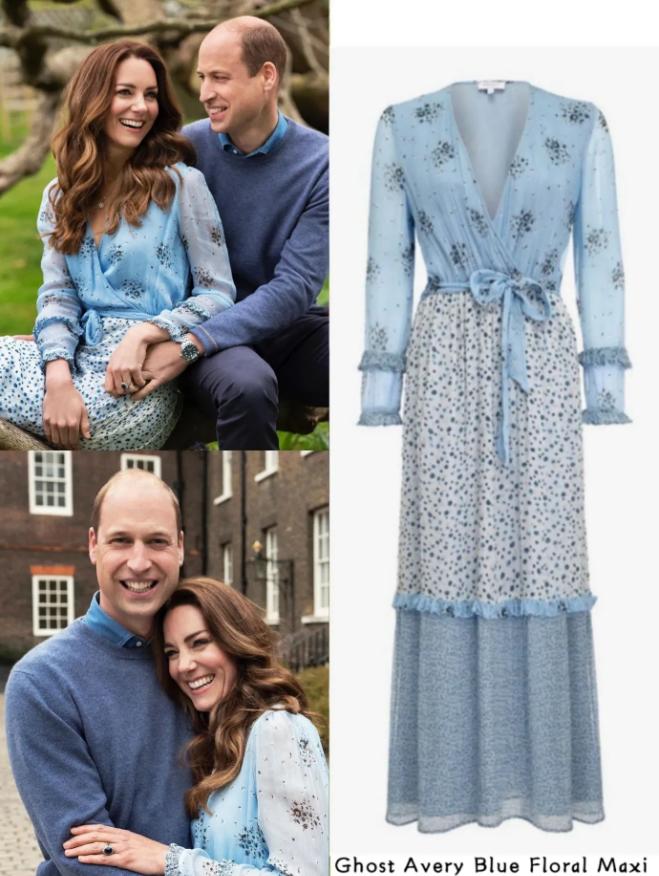 Công nương Kate mặc váy cũ chụp ảnh kỷ niệm 10 năm ngày cưới, nhưng đây là bộ váy nhìn chán nhất tủ đồ của cô - Ảnh 2.