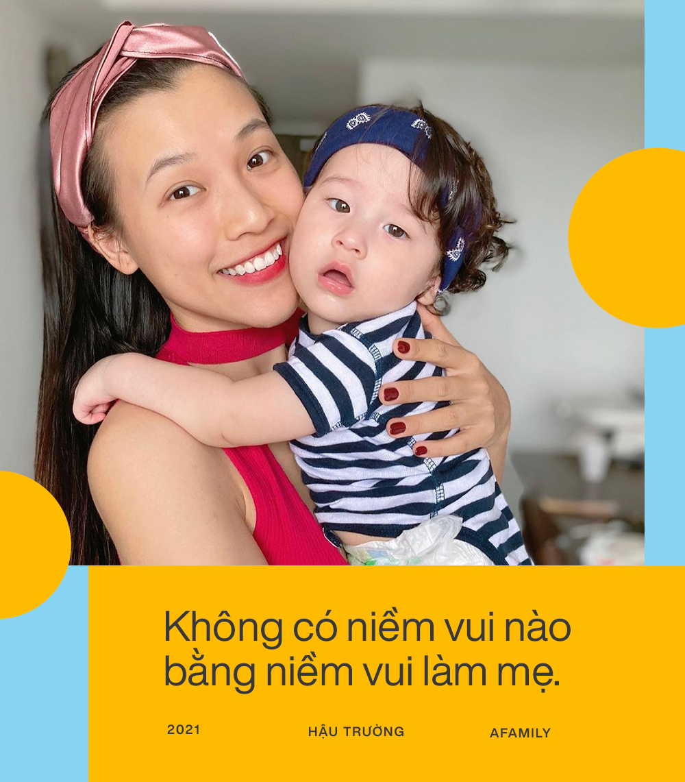 """Hoàng Oanh tiết lộ sau 7 tháng sang Singapore đoàn tụ với chồng Tây: Cuộc sống thay đổi hoàn toàn, """"stress"""" khi lần đầu làm mẹ bỉm sữa - Ảnh 1."""