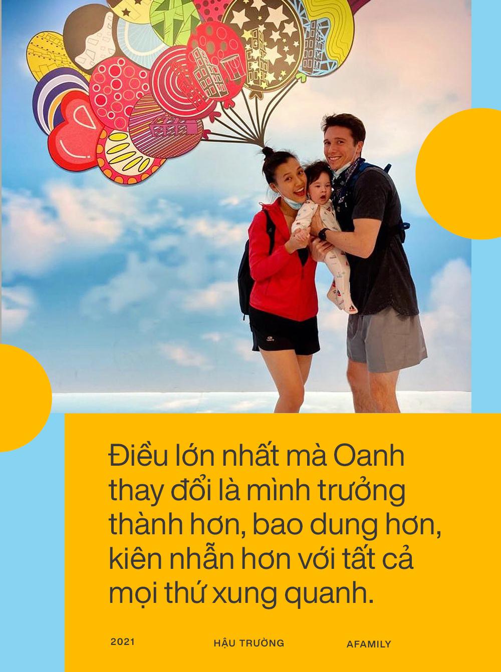 """Hoàng Oanh tiết lộ sau 7 tháng sang Singapore đoàn tụ với chồng Tây: Cuộc sống thay đổi hoàn toàn, """"stress"""" khi lần đầu làm mẹ bỉm sữa - Ảnh 2."""