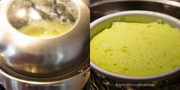 Không cần lò nướng với 4 nguyên liệu bạn có thể làm bánh bông lan lá dứa bất bại - Ảnh 9.