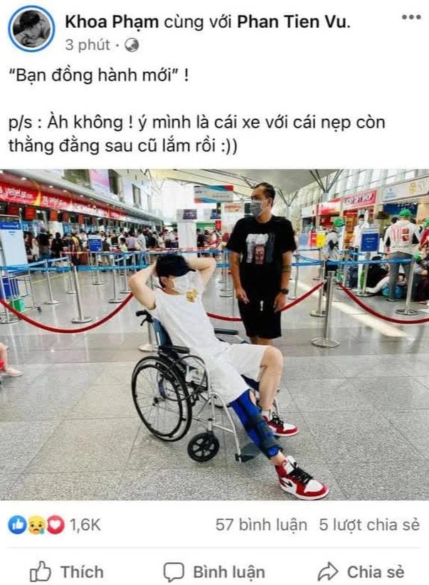Karik phải ngồi xe lăn sau khi gặp tai nạn té từ sân khấu xuống đất, chính thức lên tiếng về khả năng tham dự Rap Việt Concert - Ảnh 2.