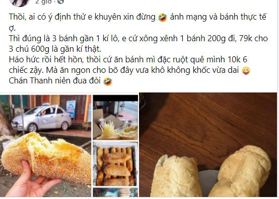 Hàng bán bánh mì ú ụ dừa nổi tiếng Thái Nguyên bất ngờ bị dân mạng chê thậm tệ vì chất lượng không được như quảng cáo - Ảnh 1.