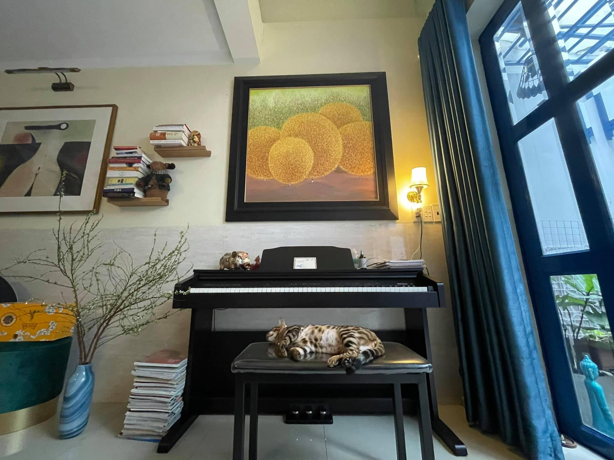 """Uyên Linh khoe nhà tối giản toàn tranh với mèo bình yên vô cùng, ai thích """"nghệ"""" cũng nên ngó qua thử xem! - Ảnh 5."""