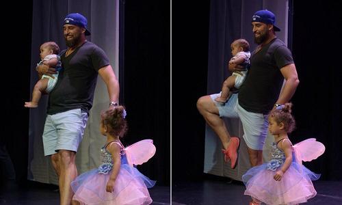 Thấy con gái bật khóc trên sân khấu, ông bố bỉm sữa quyết định làm hành động khiến cả thế giới kinh ngạc và phát cuồng, tình cha bao la là đây! - Ảnh 4.
