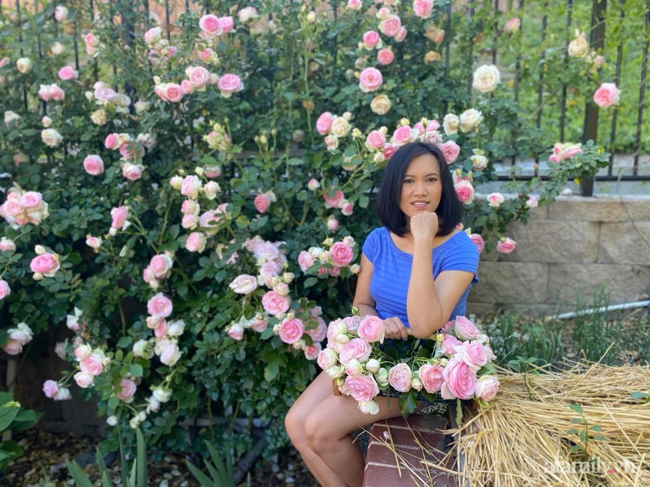 Khu vườn 750m² muôn hoa khoe sắc tỏa hương của mẹ Việt thức đêm chăm cây ở Mỹ - Ảnh 3.