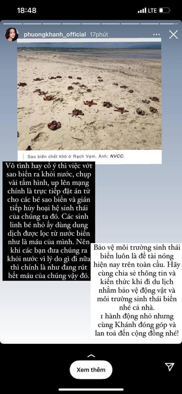 """Sau Tóc Tiên đến Hoa hậu Trái đất Phương Khánh lên án hành động chụp ảnh với sao biển: """"Trực tiếp đặt án tử, gián tiếp hủy hoại hệ sinh thái"""" - Ảnh 1."""