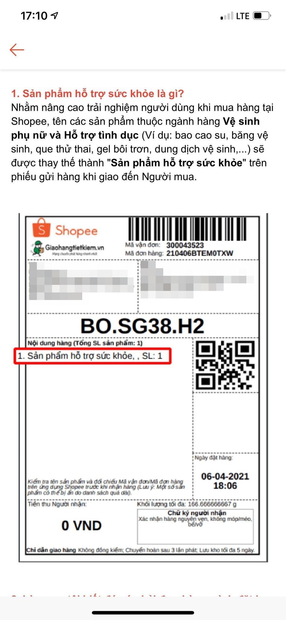 """Shopee nâng cao trải nghiệm bằng cách đổi tên một số sản phẩm """"thầm kín"""" trên phiếu gửi hàng, từ chủ shop bán hàng tới người mua đều đồng tình nhưng vẫn """"sợ nhất"""" điều này - Ảnh 1."""