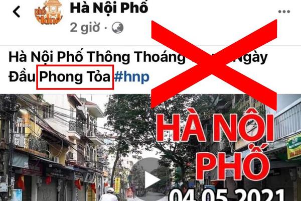 """Một Youtuber có tiếng bị xử phạt 12,5 triệu đồng vì tung tin """"Hà Nội bị phong tỏa"""" - Ảnh 1."""